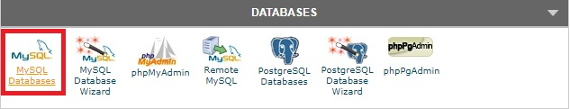 MYSQL Database cPanel Siteground