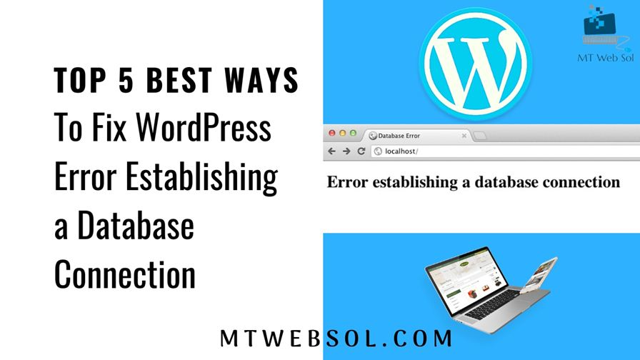 5 Best Ways to Fix Error Establishing Database Connection on WordPress or WooCommerce