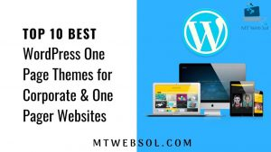 Top 10 Best One Page Themes or Corporate Themes for WordPress in 2018