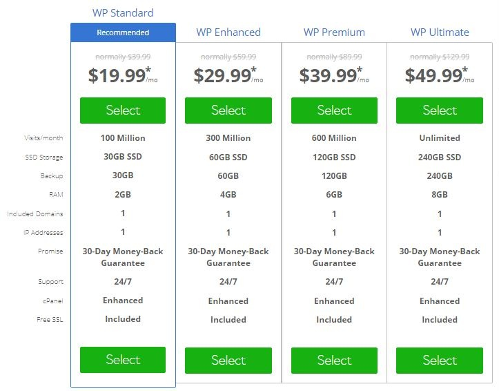 best managed wordpress woocommerce web hosting bluehost package details mt web sol