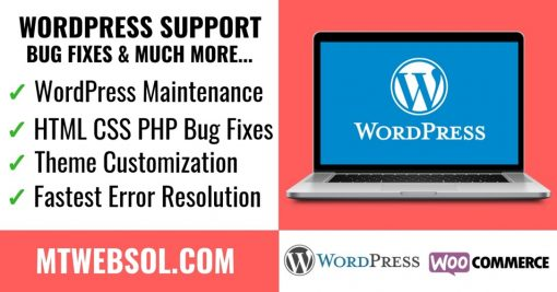 WordPress Support, Bug Fixes & Customization Service