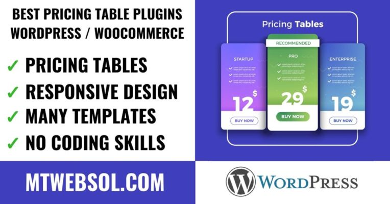 Top 8 Best Pricing Table Plugins for WordPress & WooCommerce in 2019