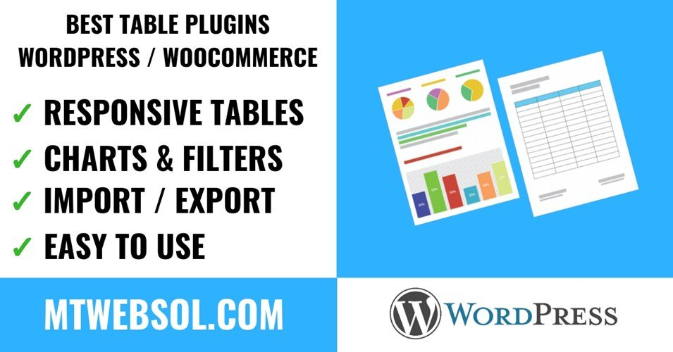 Top 5 Best Table Plugins for WordPress & WooCommerce Without Coding