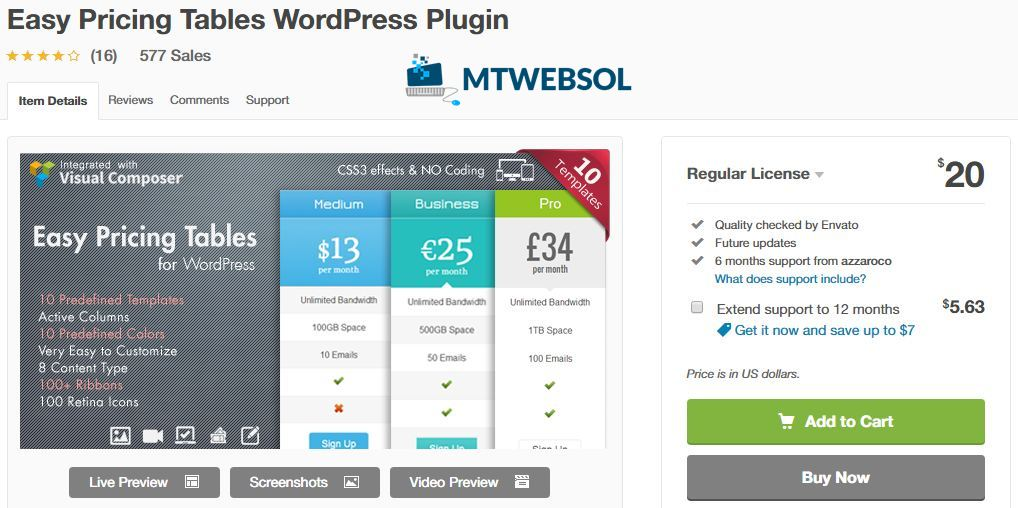 Top 8 Best Pricing Comparison Table Plugins for WordPress in 2019