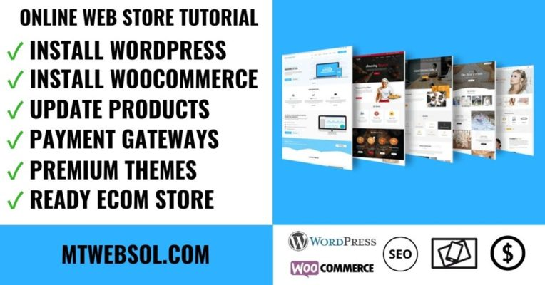Start Setup Online Web Store WooCommerce WordPress Tutorial Guide